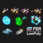 Space Warplanes Lowpoly 3d model