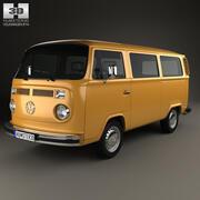 Volkswagen Transporter (T2) Пассажирский фургон 1972 г. 3d model