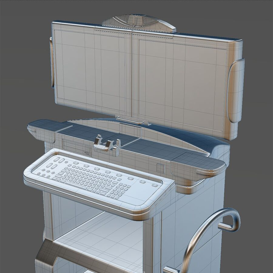 Medical GE C-Arm With Cart royalty-free 3d model - Preview no. 13