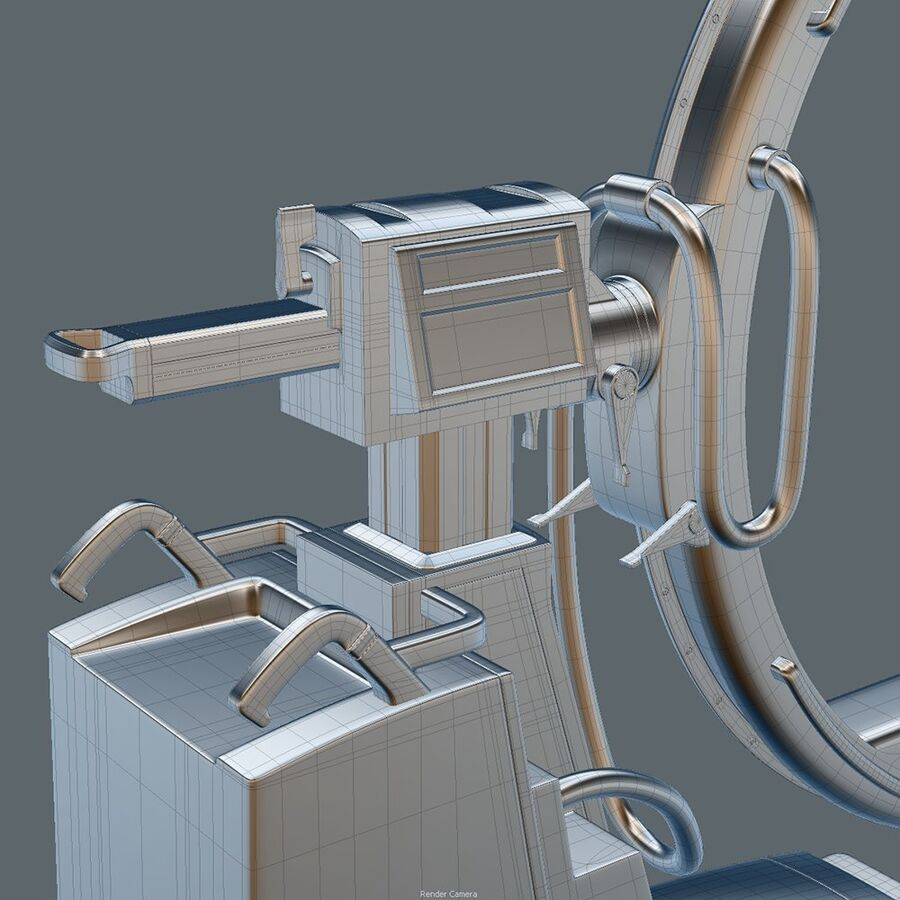 Medical GE C-Arm With Cart royalty-free 3d model - Preview no. 11