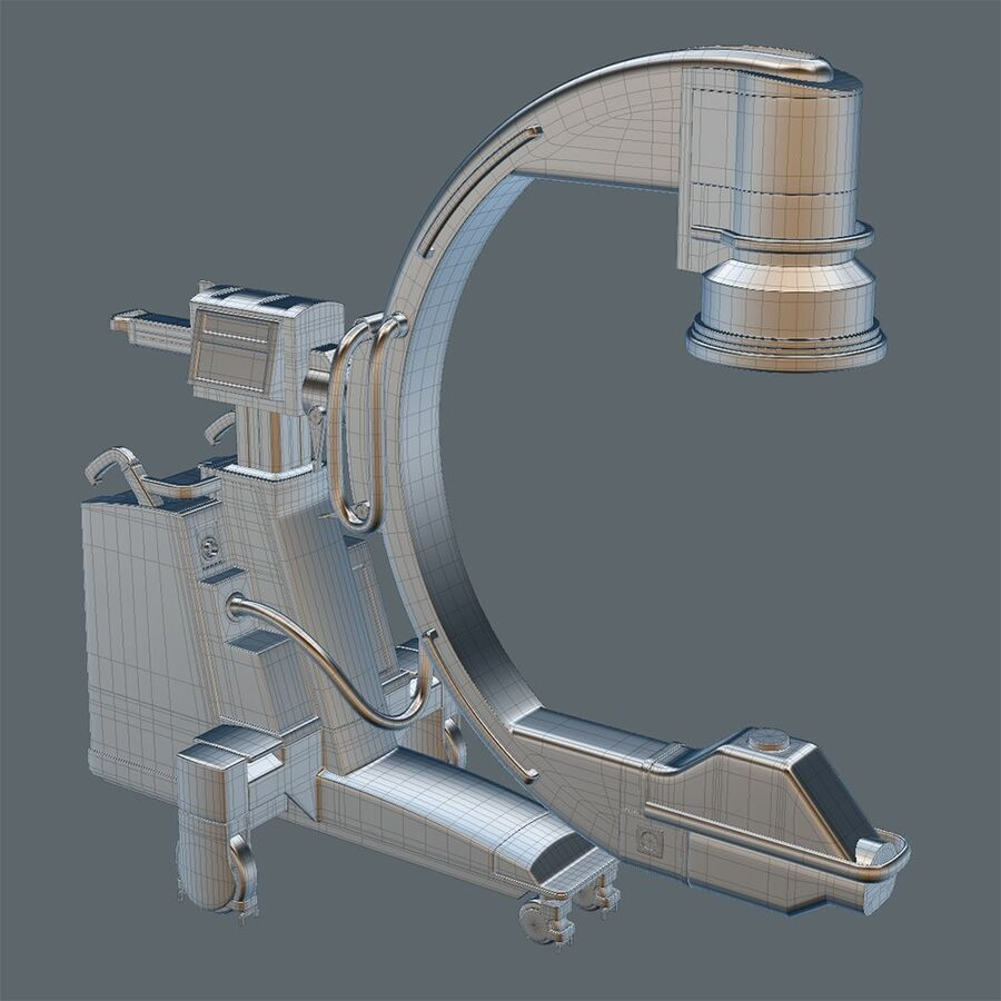 Medical GE C-Arm With Cart royalty-free 3d model - Preview no. 10