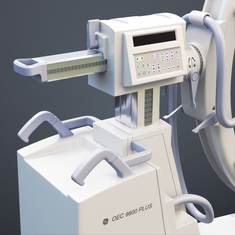 Medical GE C-Arm With Cart royalty-free 3d model - Preview no. 6