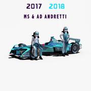 MS&AD Andretti 2017年2018年 3d model