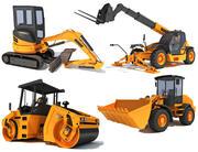 Vehículos de construcción modelo 3d