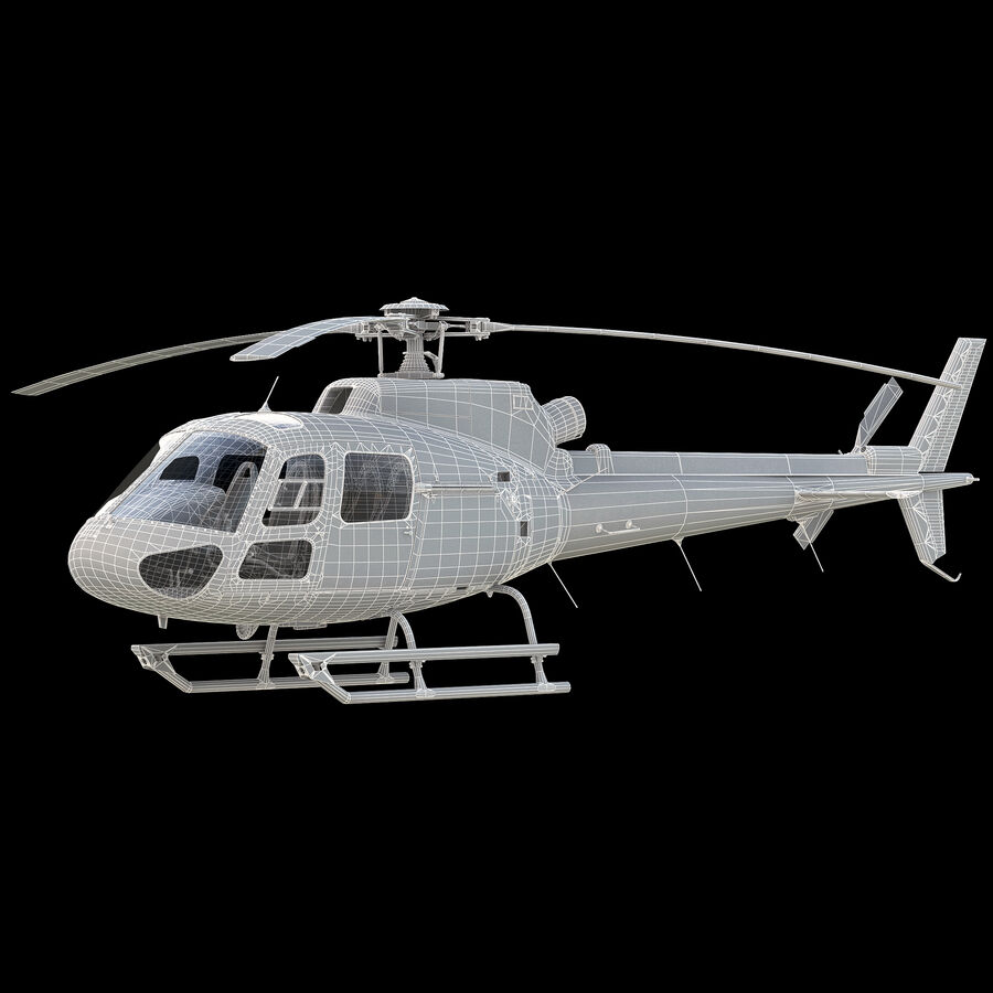 Eurocopter H-125 royalty-free 3d model - Preview no. 10