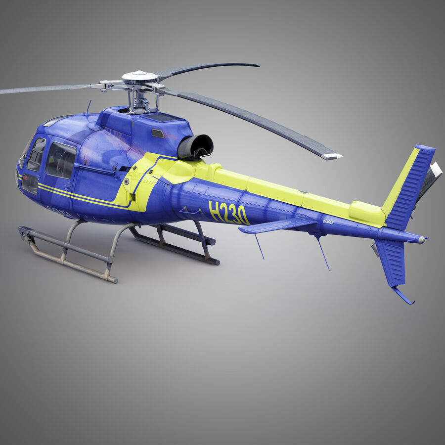 Eurocopter H-125 royalty-free 3d model - Preview no. 4