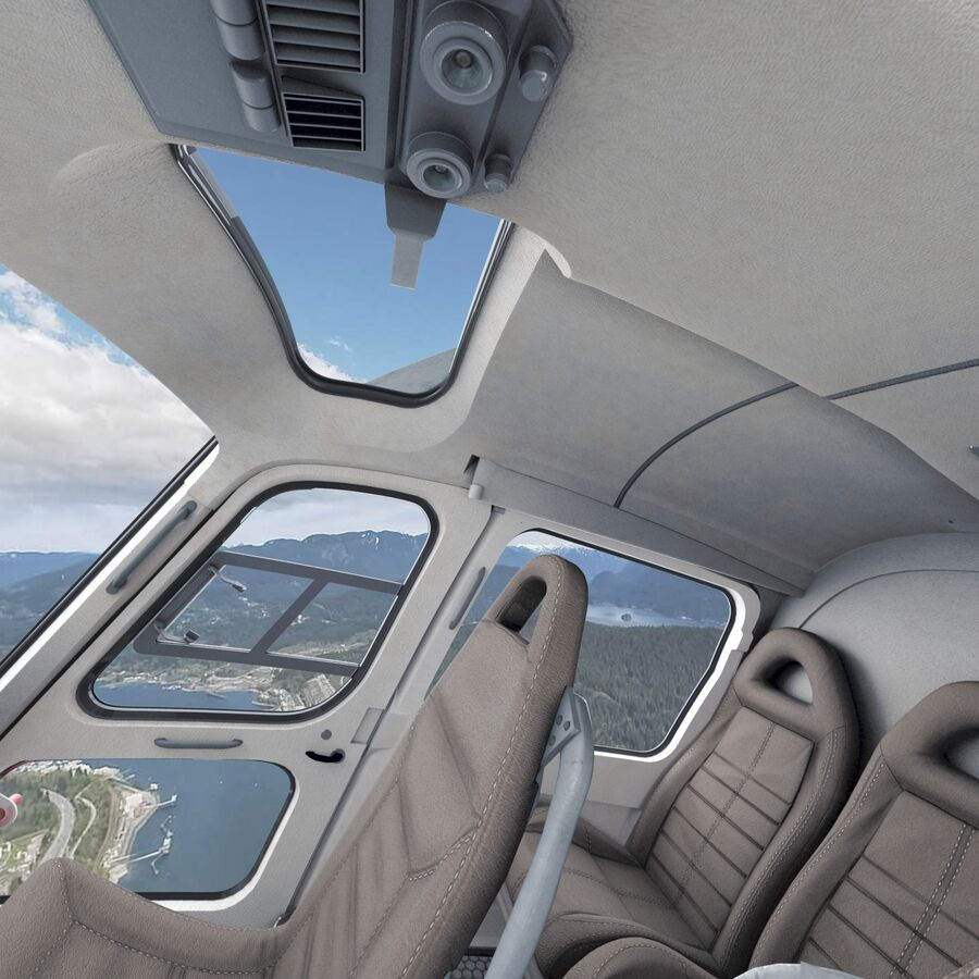 Eurocopter H-125 royalty-free 3d model - Preview no. 9