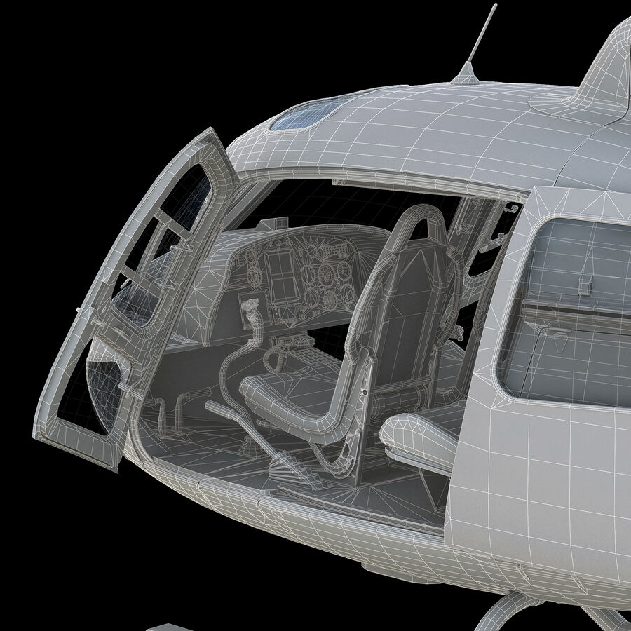 Eurocopter H-125 royalty-free 3d model - Preview no. 12