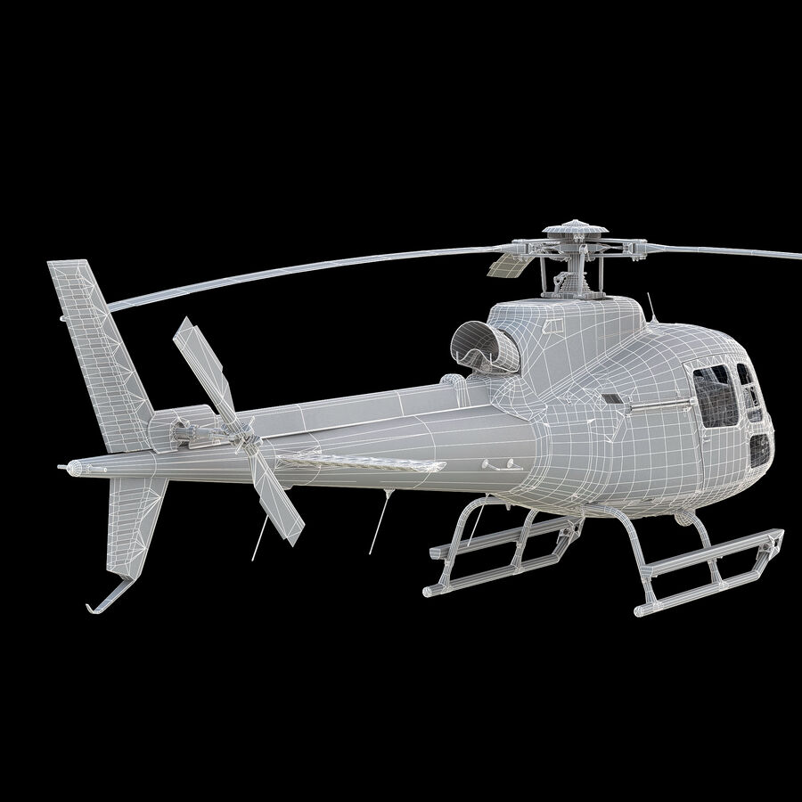 Eurocopter H-125 royalty-free 3d model - Preview no. 11