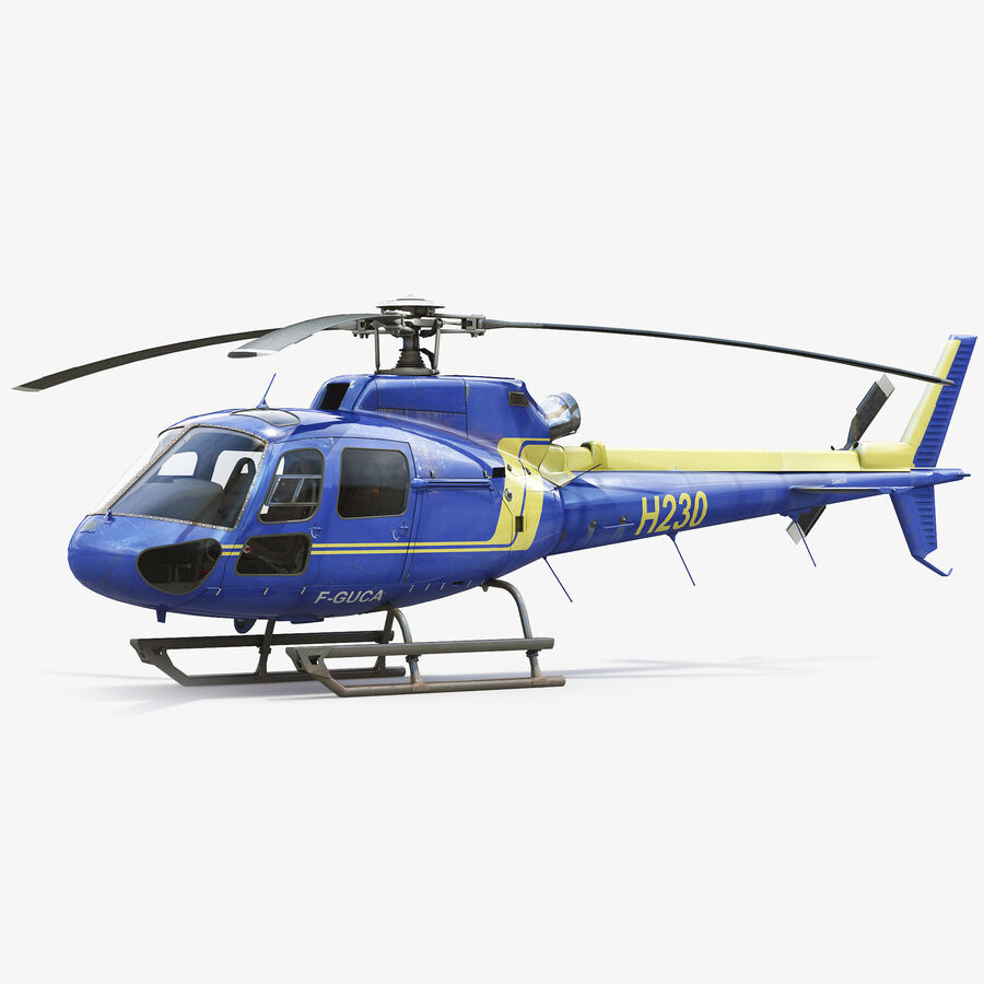 Eurocopter H-125 royalty-free 3d model - Preview no. 1