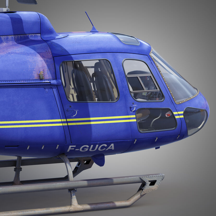 Eurocopter H-125 royalty-free 3d model - Preview no. 5