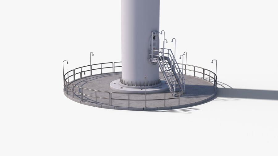 Generador de turbina de viento royalty-free modelo 3d - Preview no. 14