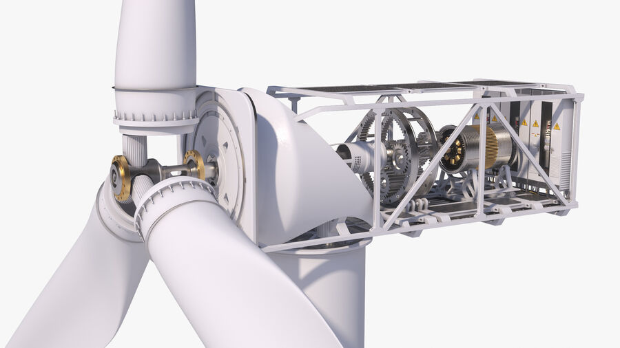 Generador de turbina de viento royalty-free modelo 3d - Preview no. 5