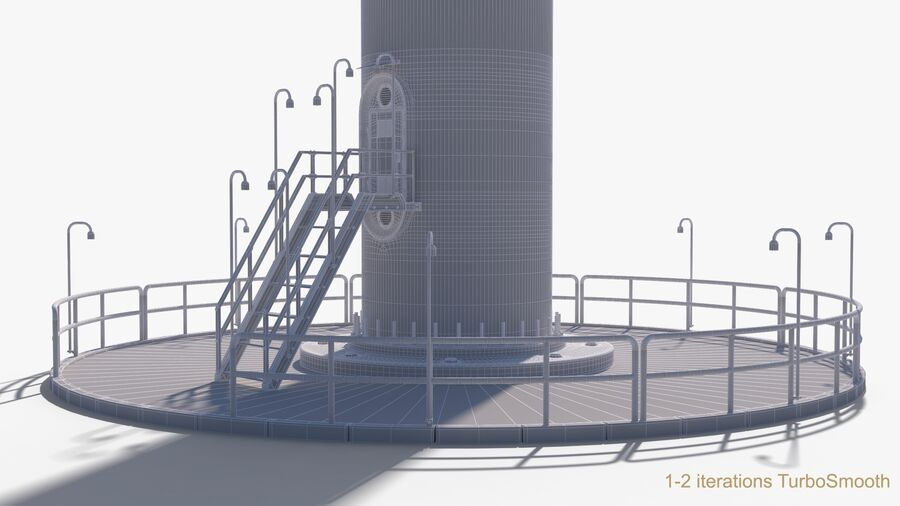 Generador de turbina de viento royalty-free modelo 3d - Preview no. 22