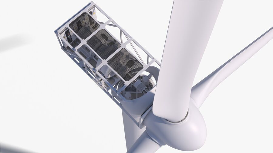 Generador de turbina de viento royalty-free modelo 3d - Preview no. 8