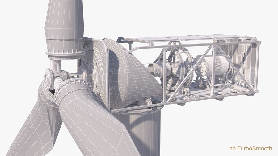 Generador de turbina de viento royalty-free modelo 3d - Preview no. 20