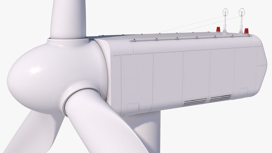 Generador de turbina de viento royalty-free modelo 3d - Preview no. 3
