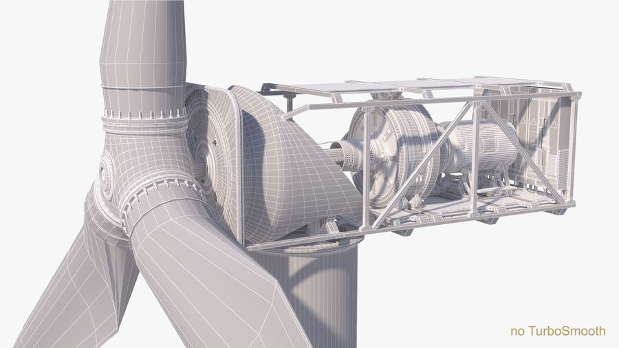 Generador de turbina de viento royalty-free modelo 3d - Preview no. 18