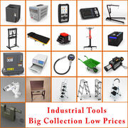 samling av industriella verktyg 3d model