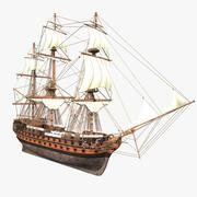 HMS Wellesley Tallship 3d model