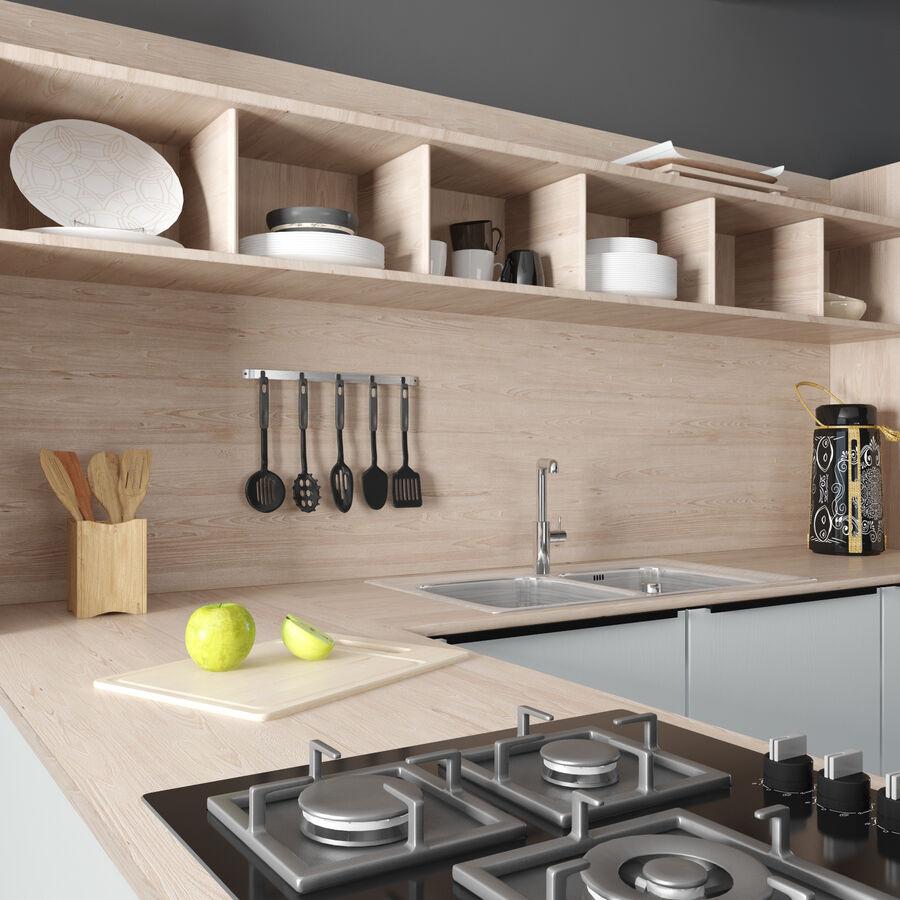 Kitchen Set Cesar Ariel 3d Model 150 Fbx Max Free3d