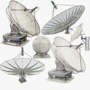 Superconjunto de antena parabólica 3d model