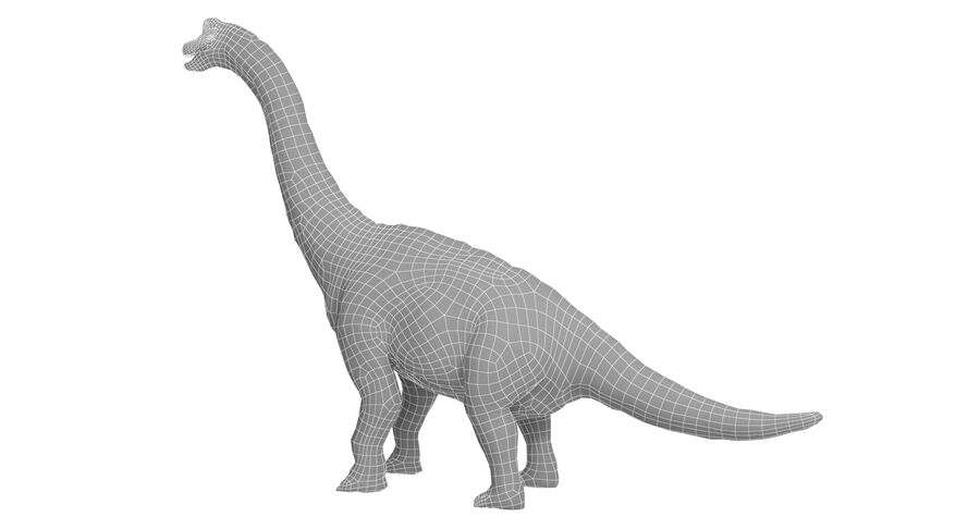 Braquiosaurio royalty-free modelo 3d - Preview no. 18