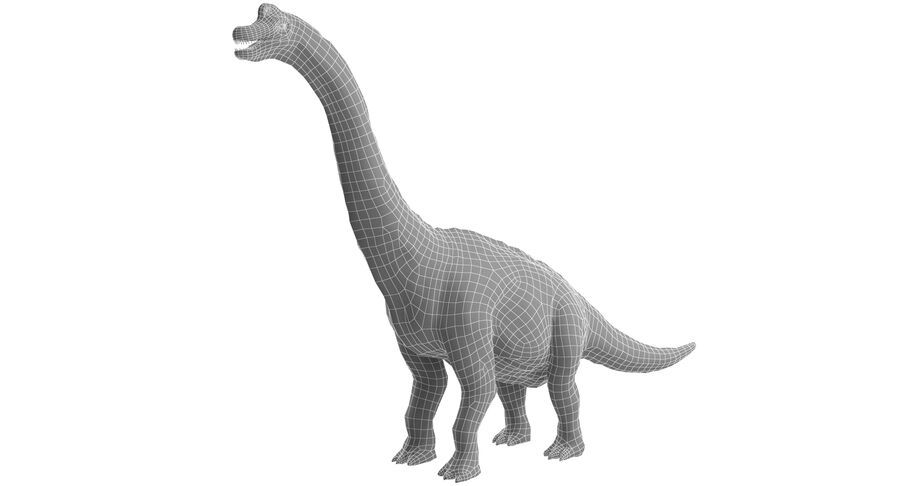 Braquiosaurio royalty-free modelo 3d - Preview no. 14