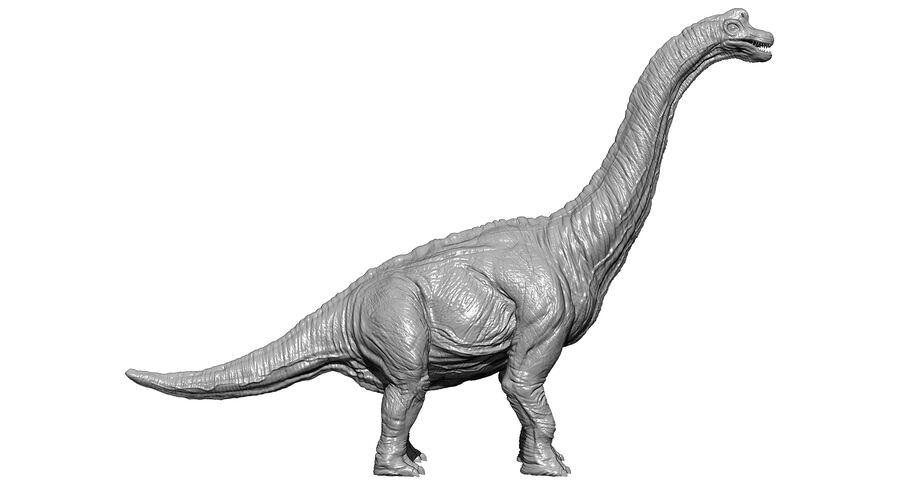 Braquiosaurio royalty-free modelo 3d - Preview no. 24