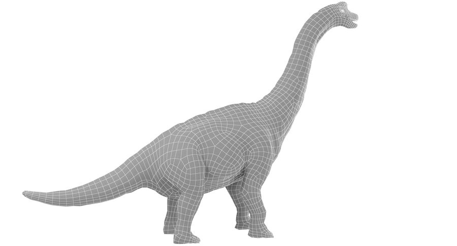 Braquiosaurio royalty-free modelo 3d - Preview no. 20