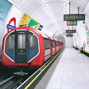 Underground Tube Station 3d model