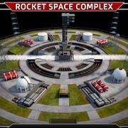 Complejo de lanzamiento de cohetes modelo 3d