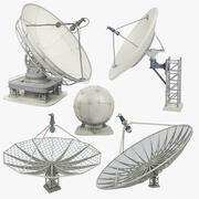 Satellite Dish Mega Collection 3d model