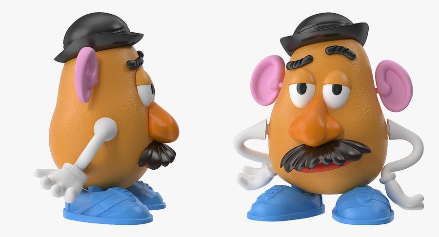 Panie Potato Head royalty-free 3d model - Preview no. 6