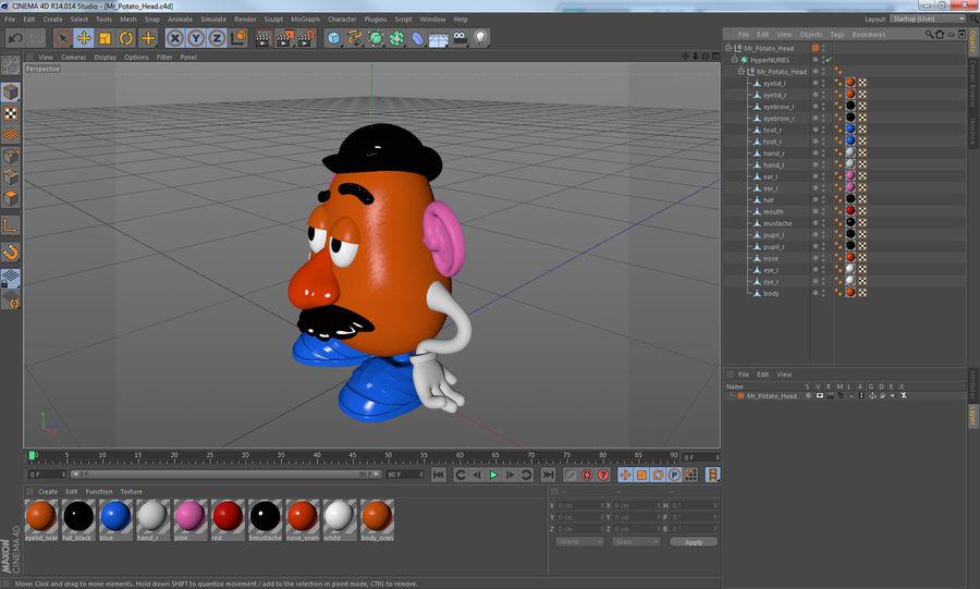 Panie Potato Head royalty-free 3d model - Preview no. 16
