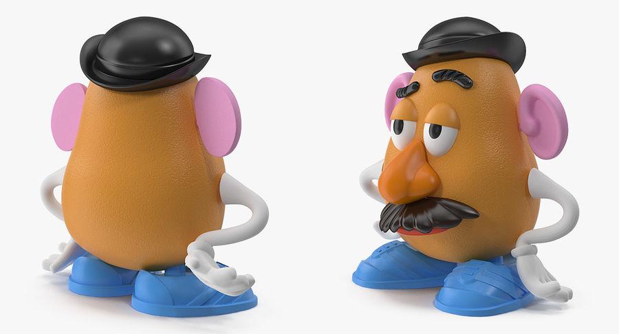 Panie Potato Head royalty-free 3d model - Preview no. 3