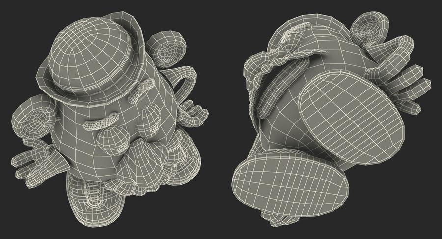 Panie Potato Head royalty-free 3d model - Preview no. 19