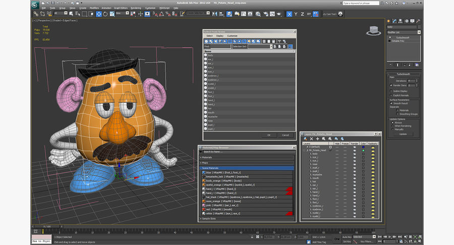 Panie Potato Head royalty-free 3d model - Preview no. 17