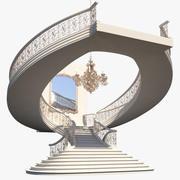 楼梯X4 3d model