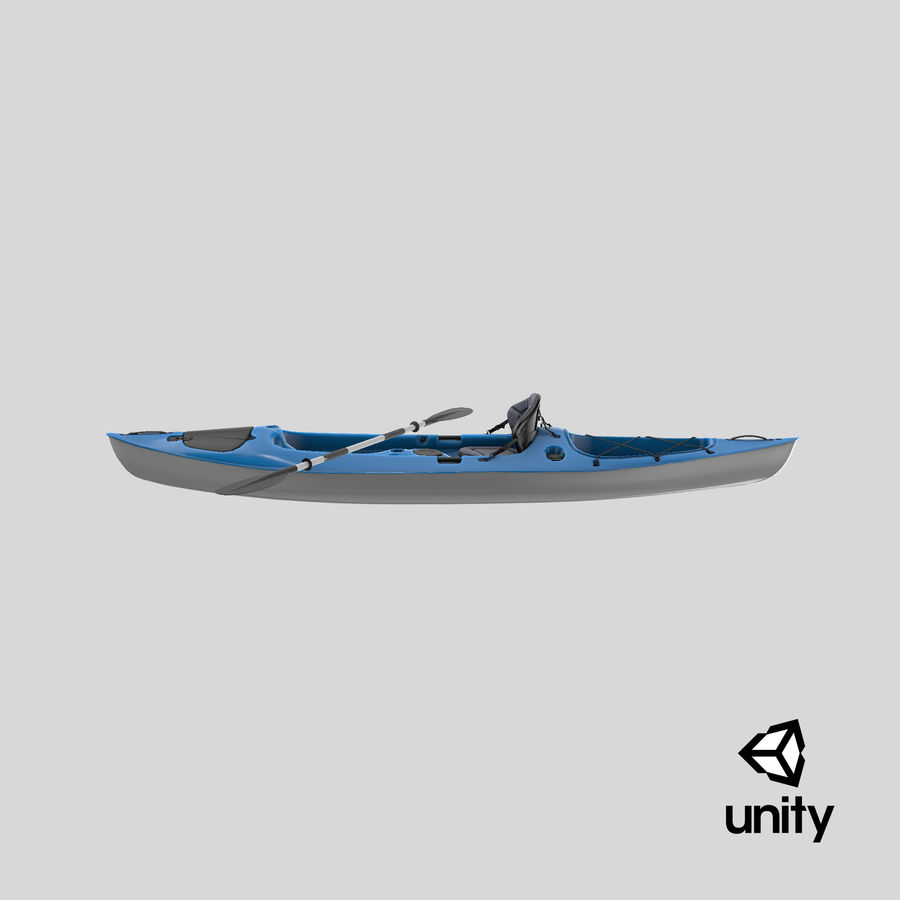 Kayak con Paddle Vray PBR con pelli royalty-free 3d model - Preview no. 19