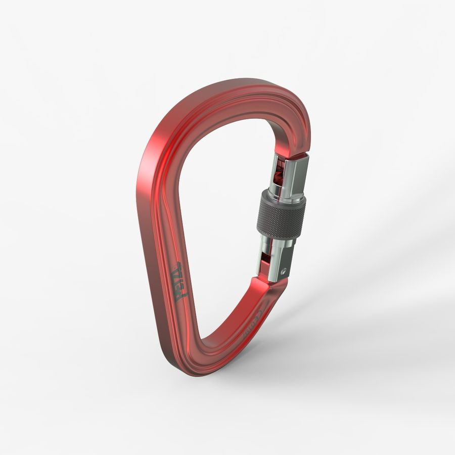 Red Carabiner royalty-free 3d model - Preview no. 5