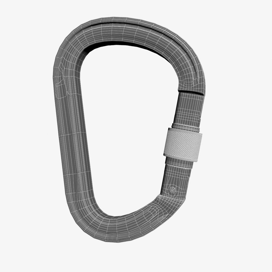 Red Carabiner royalty-free 3d model - Preview no. 10