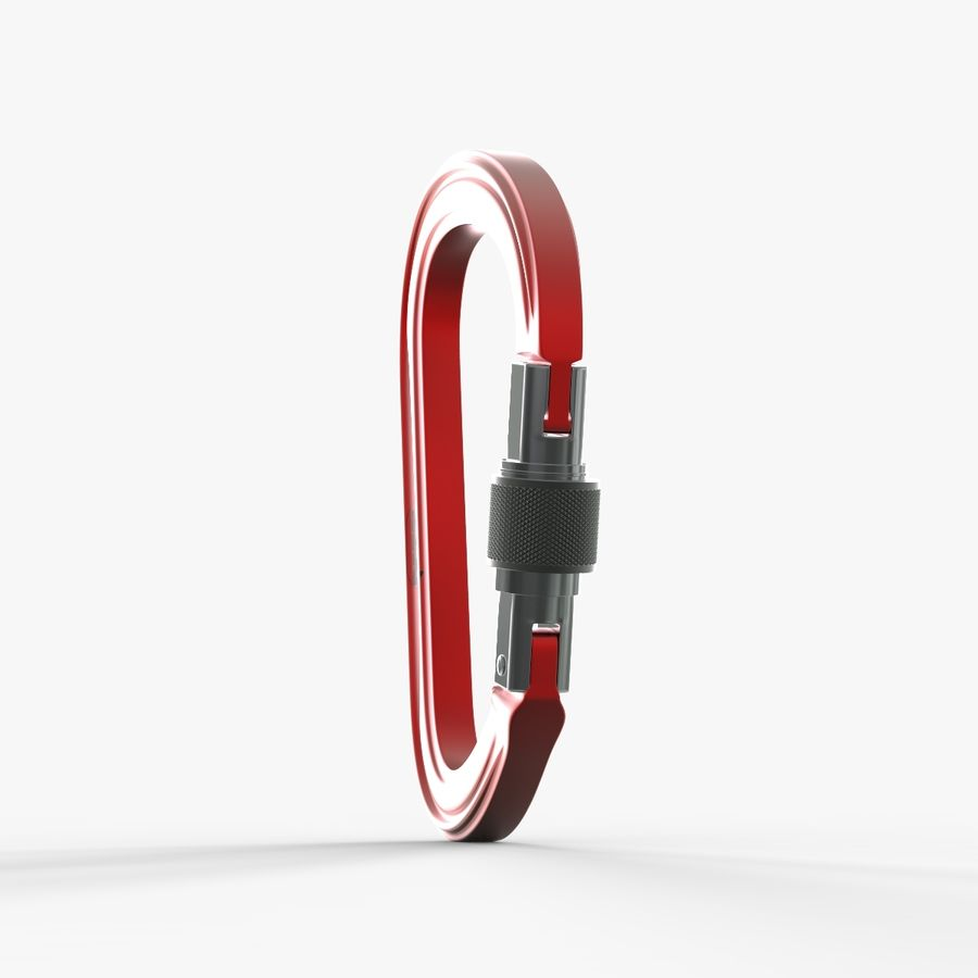 Red Carabiner royalty-free 3d model - Preview no. 6