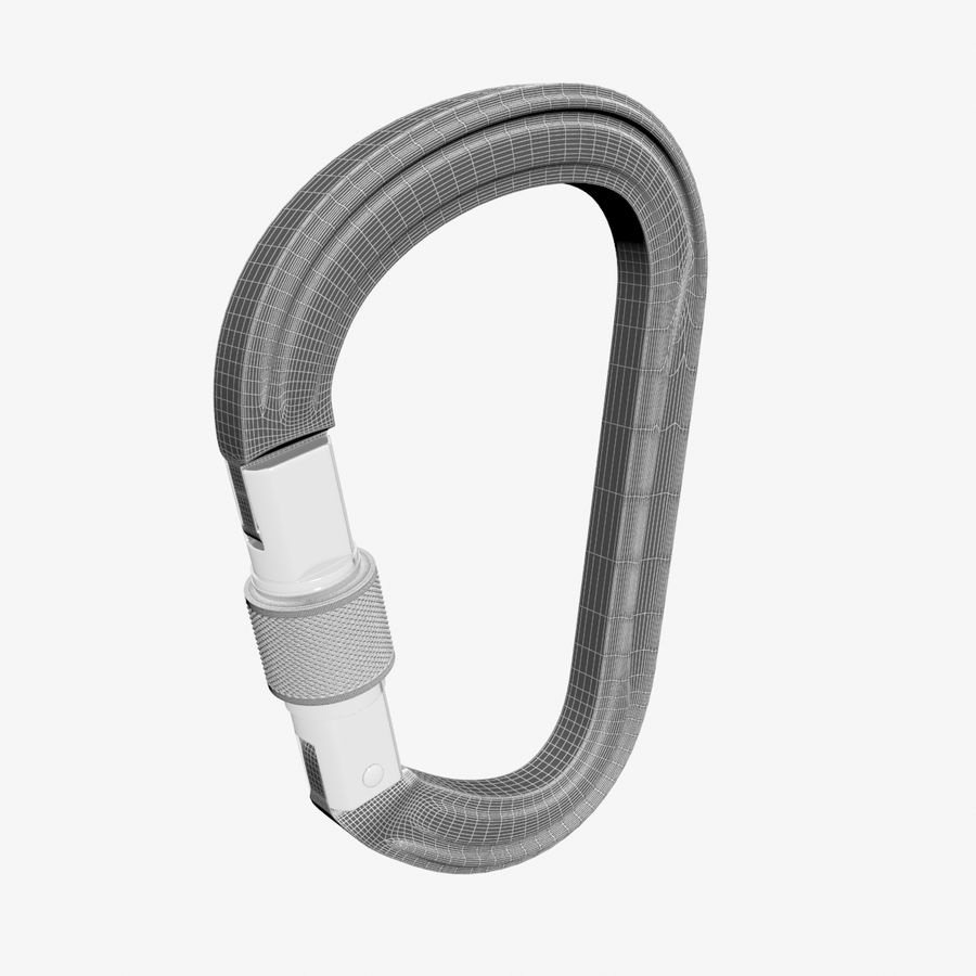 Red Carabiner royalty-free 3d model - Preview no. 8