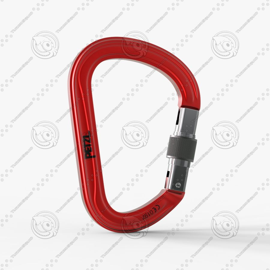 Red Carabiner royalty-free 3d model - Preview no. 3