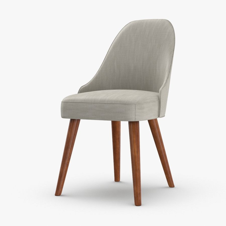 Mid century modern dining chair royalty free 3d model preview no 1