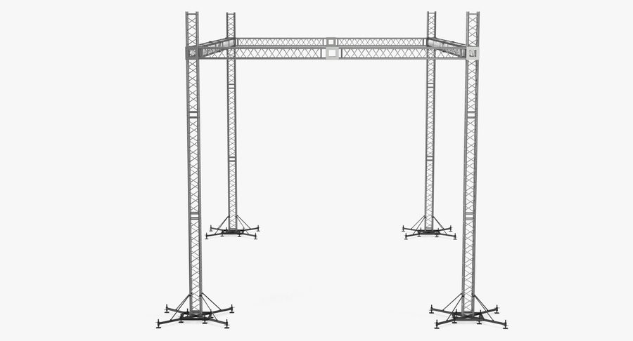 Big Truss System royalty-free 3d model - Preview no. 7
