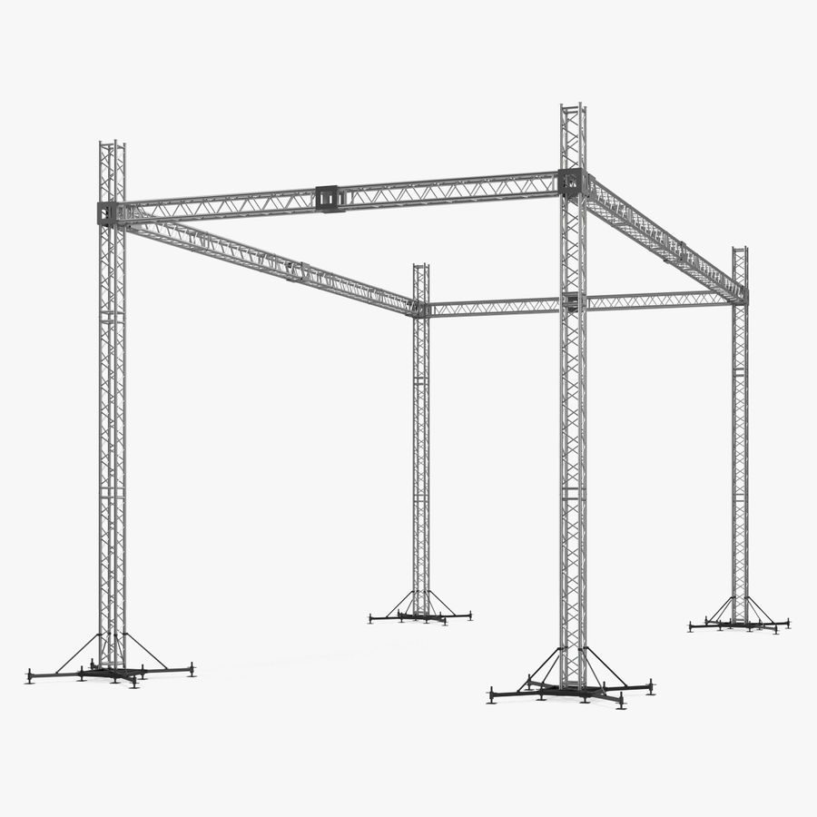 Big Truss System royalty-free 3d model - Preview no. 1