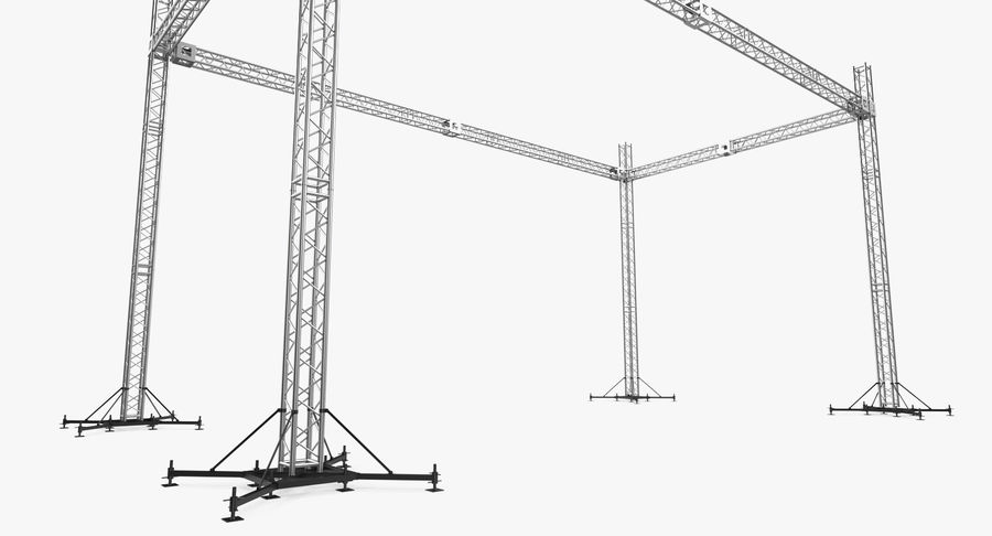 Big Truss System royalty-free 3d model - Preview no. 8