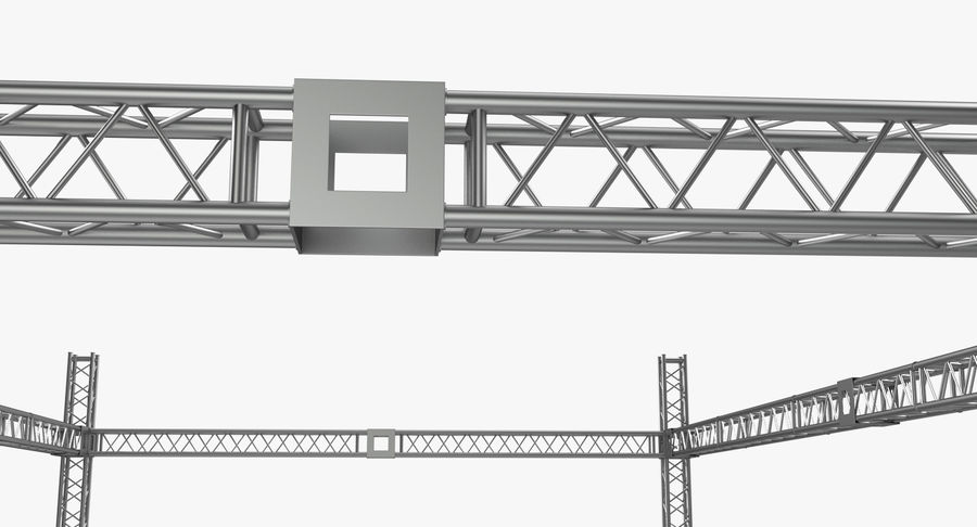 Big Truss System royalty-free 3d model - Preview no. 12